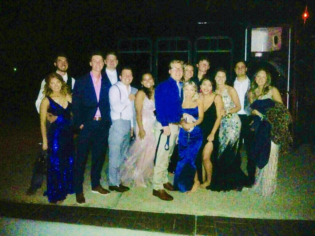 prom party bus high school dallas texas