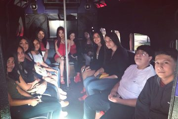 quinceanera in the party bus