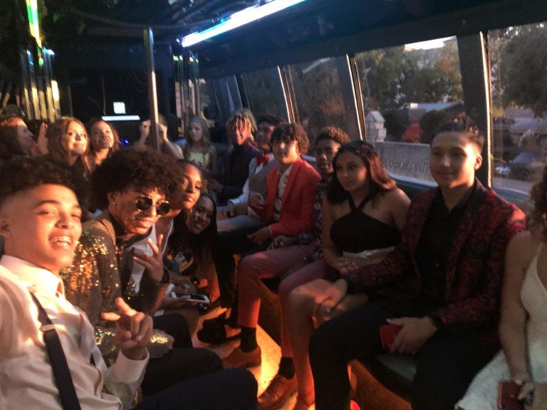 party bus for homecoming in Dallas